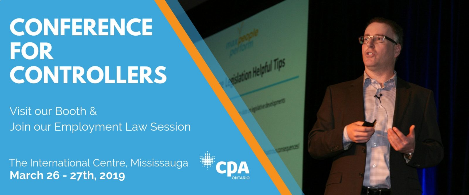 2019 CPA Controller Conference Promotional Image - Jordan Rodney speaking at conference