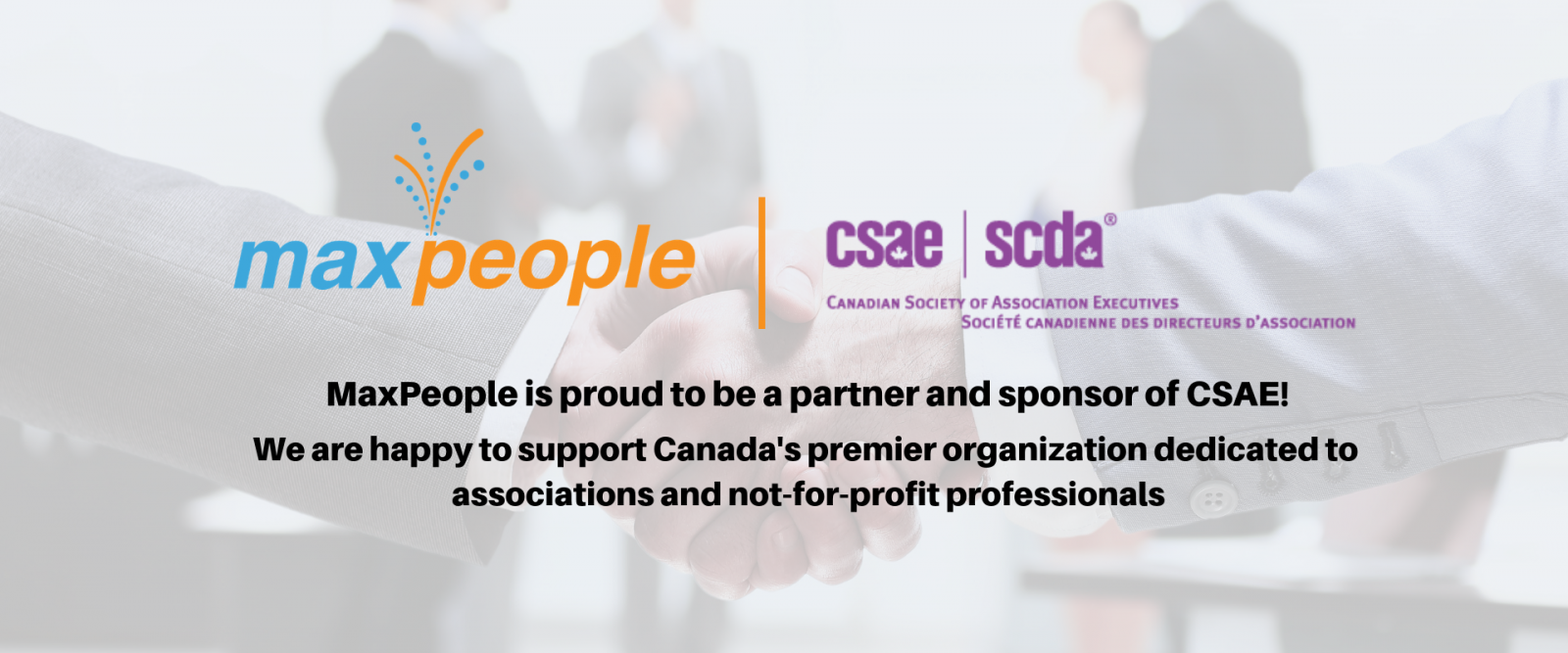 MaxPeople is proud to be a partner and sponsor of CSAE
