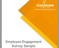Employee Engagement Survey Worksheet Cover