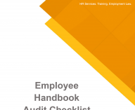 Employee Handbook Audit Checklist Cover