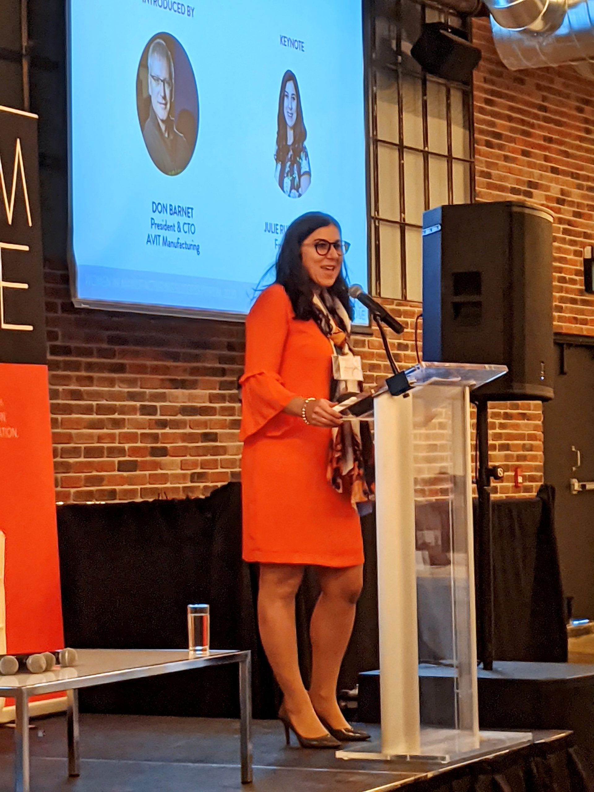 Julie Ruben Rodney Speaking at CM&E Women in Manufacturing Success Forum